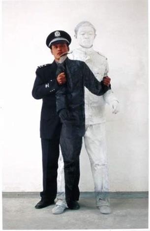 Liu Bolin-Camouflage No.17, Policier 2-2006
