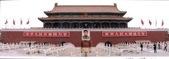 Liu Bolin-Camouflage No.21, Tianmen II-