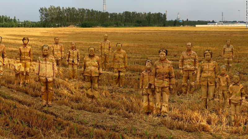 Liu Bolin - Cancer Village (detail), A Colorful World at Klein Sun Gallery, 2014, news 2013 people