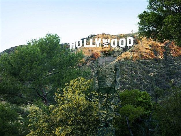 Liu Bolin-Hidding in California No. 2, Hollywood-2013