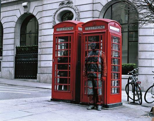 Liu Bolin-Hide in the City No.65, Telephone Booth-2008