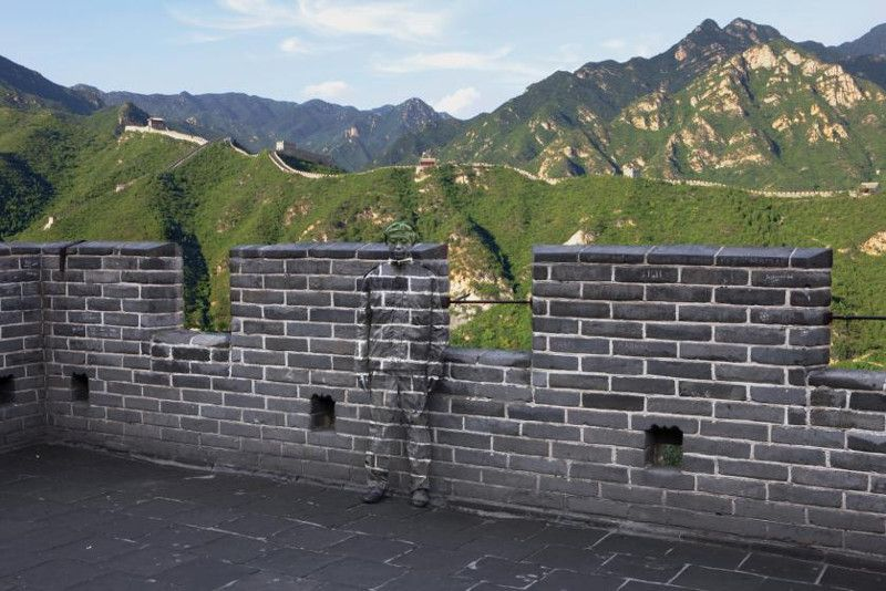 Liu Bolin - Hiding in the City No. 91, Great Wall, 2010 privacy contact 2013