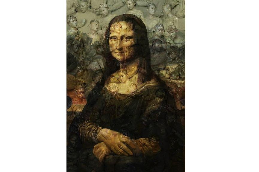 Liu Bolin - Mona Lisa, 2016