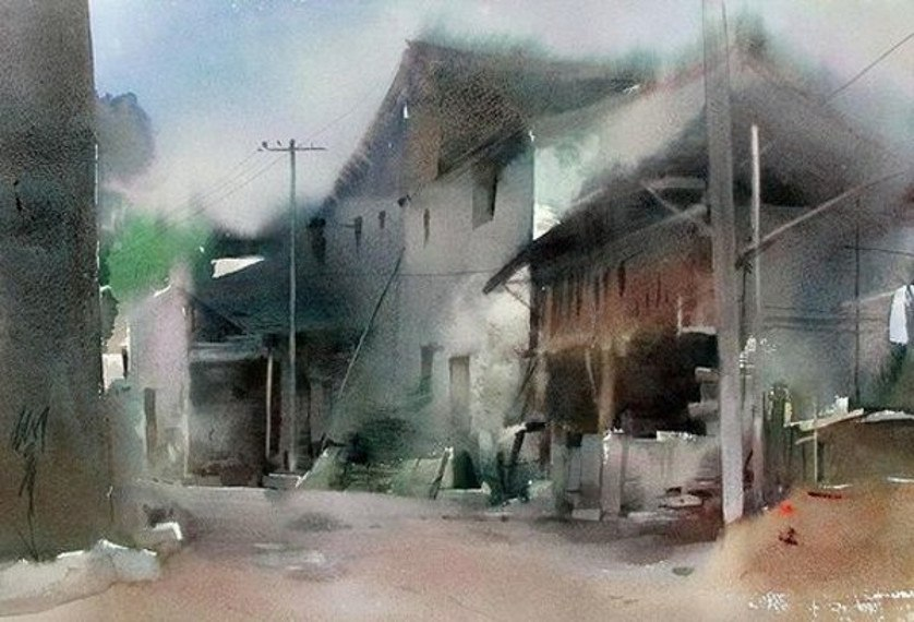 Liu Yi - Untitled, edit and search for comments in watercolors