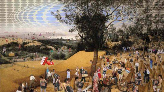 Lluis Barba - The Harvesters Brueghel (detail), 2018 (new version)