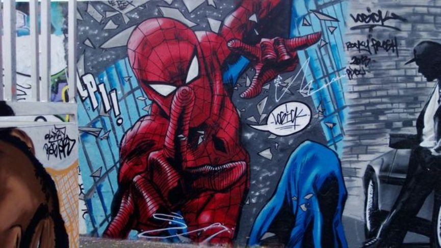 Logick - Spiderman at Lille, France, 2013