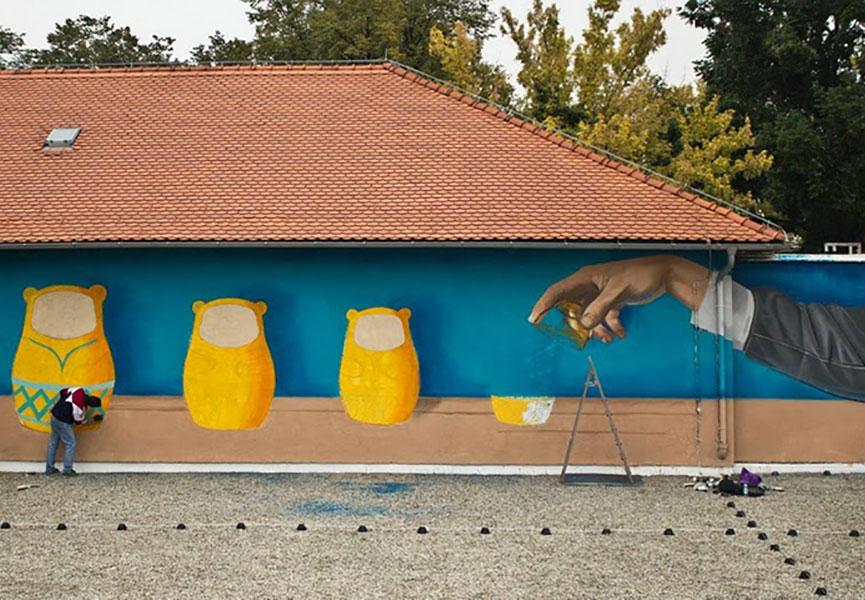 Matryoshka mural