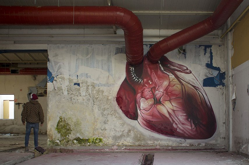 Lonac new mural piece depicts heart store