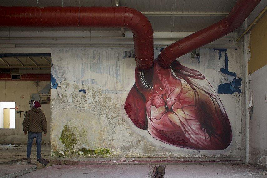 Lonac new mural piece depicts heart store
