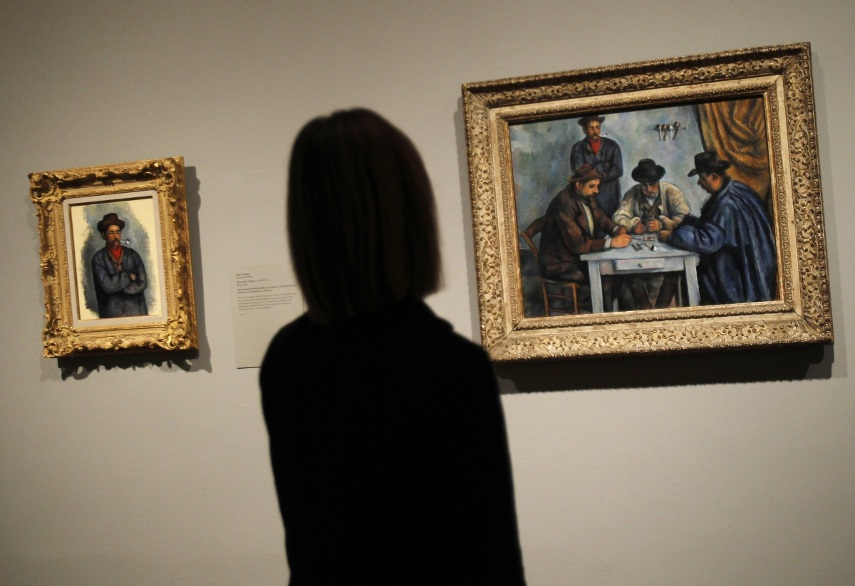 Looking at The Calendar Card Players by Paul Cezanne. Follow our auction calendar here