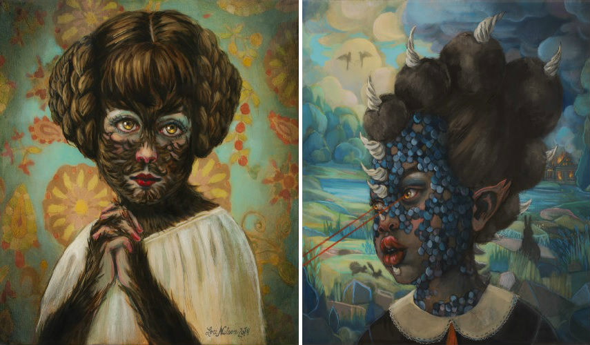 Lori Nelson - Untitled (left), 2014 - Untitled (right)