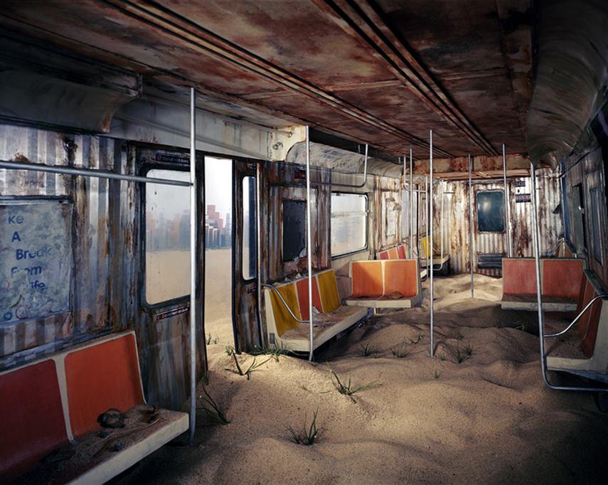 Lori Nix - Subway, 2012