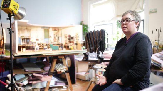 Lori Nix in her studio