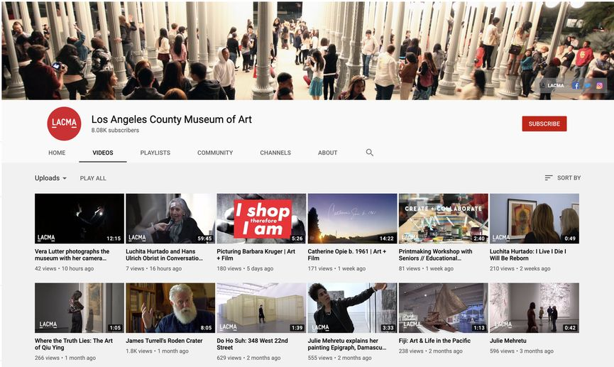 check out new video at Los Angeles County Museum of Art YouTube Channel