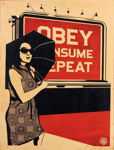 Lot 52 - Obey Billboard Consume, 2008 -AP