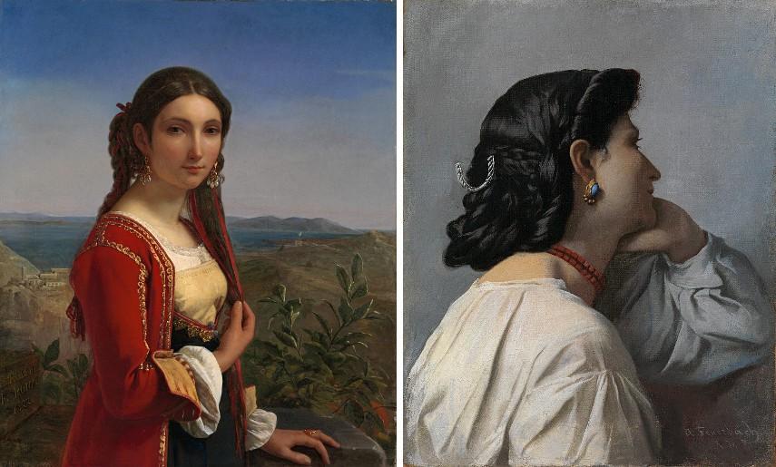 Louis-Léopold Robert - Mädchen von Procida, 1822, Anselm Feuerbach - Iphigenie, 1870