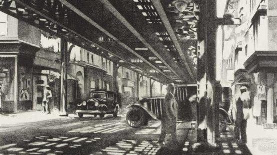Louis Lozowick - detail of an artwork