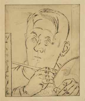 Louis Marcoussis-Portrait de Miro-1938