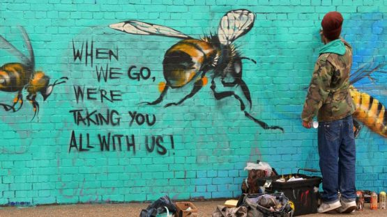 Louis Masai - Save the Bees project, London, 2015, photo via LifeGate