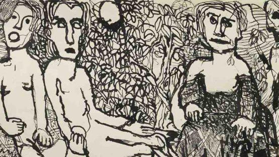Louis Soutter - Femmes Sur Un Banc (Detail)