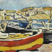 Louis Valtat - Barques A Banyuls, circa 1927 (Detail)