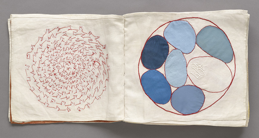 Untitled, from the fabric illustrated book, Ode à l'oubli. 2002