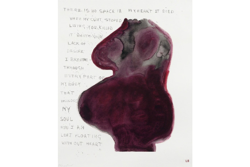 Louise Bourgeois and Tracey Emin - When My Cunt Stopped Living, 2009-2010