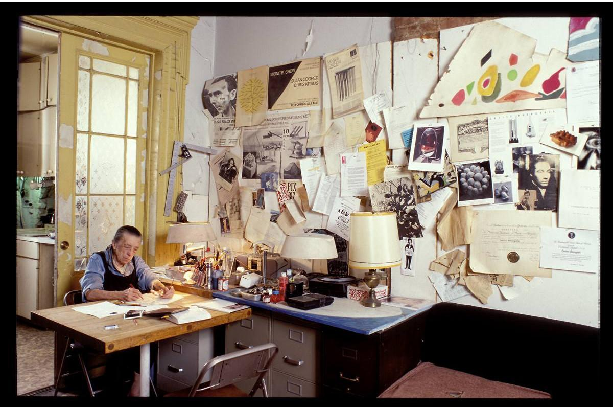 Louise Bourgeois in her home