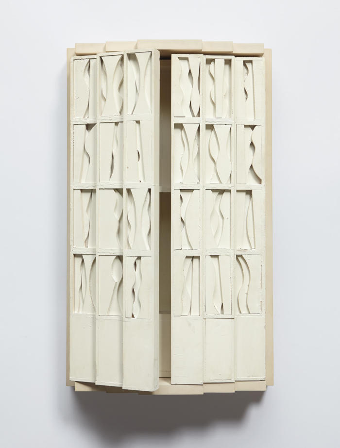 Louise Nevelson-Model for the Torah Ark Door of Temple Beth El, Great Neck, Long Island-1971