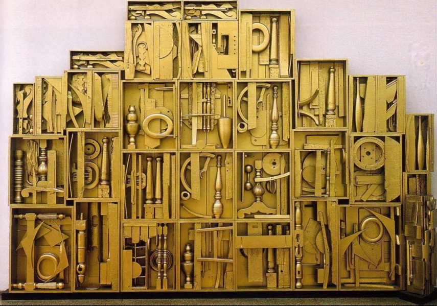 Louise Nevelson - Royal Tide IV, 1970, photo via studyblue.com american painted white museum modern untitled black sculptures