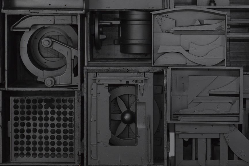 Louise Nevelson - Untitled, c. late 1970s, detail