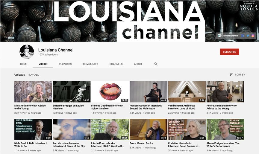 learn about art history at Louisiana Museum YouTube Channel