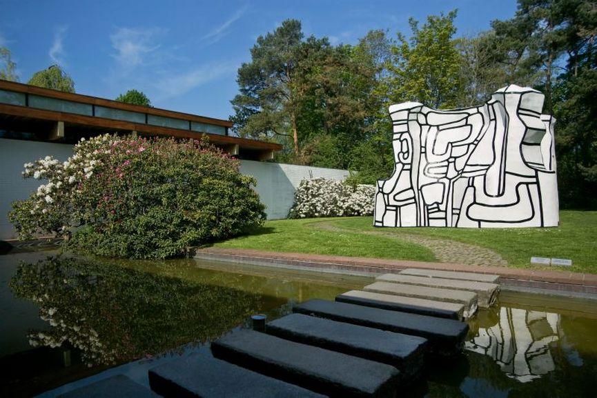 Louisiana Museum of Modern Art, View of Jean Dubuffet work