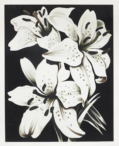 Lowell Nesbitt-White Lilies; Morning Glory-1978
