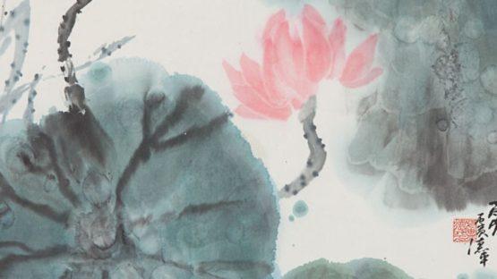 Lu de Ping - Water Lilies - Image via graysauctioneerscom