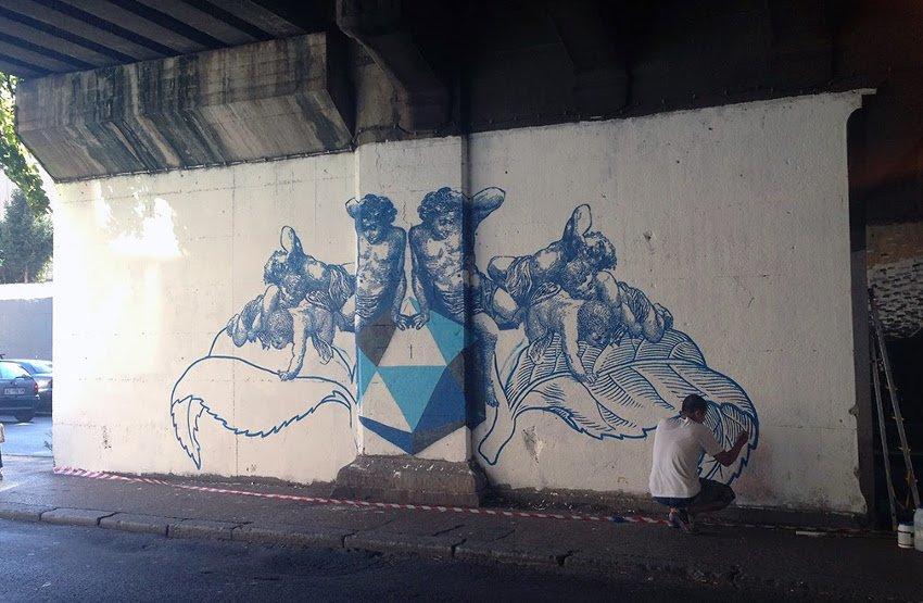 Lucamaleonte - #Backtoblue, 2014, Rome, Italy, photo credits - Street Art News