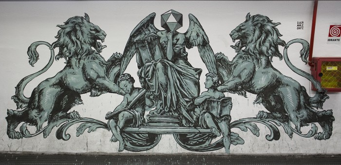 Lucamaleonte - Mural for Urban Legends Festival, Metro Station in Rome, 2014, photo credits - Il Gorgo