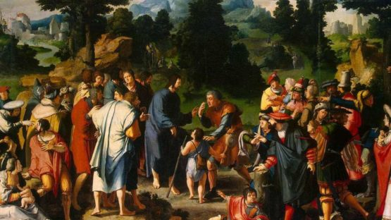 Lucas van Leyden - Healing of blind man of Jericho, 1531 (detail)