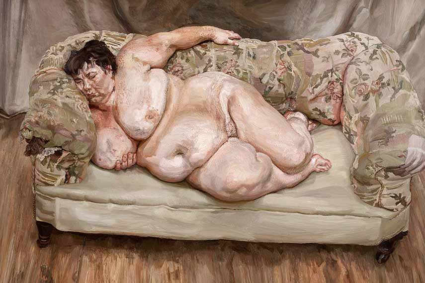 Lucian Freud - Benefits Supervisor Sleeping via huffingtonpost com