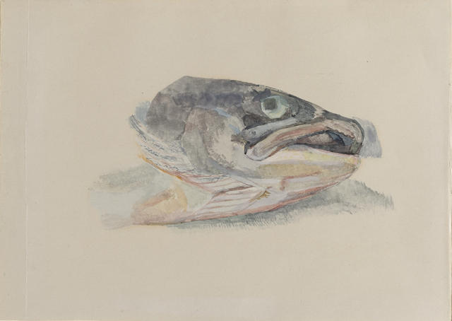 Lucian Freud-Fish Head-1966