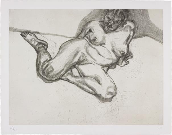 Lucian Freud-Girl Sitting-1987