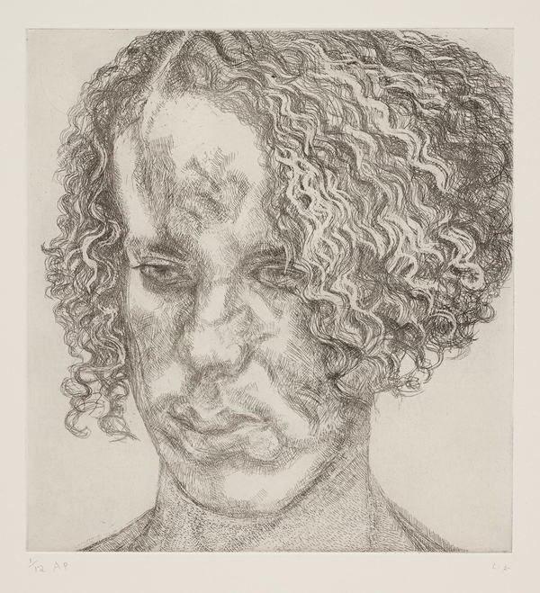Lucian Freud-Girl with Fuzzy Hair-2004
