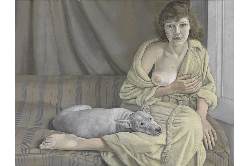 Lucian Freud - Girl with a White Dog, 1950-1