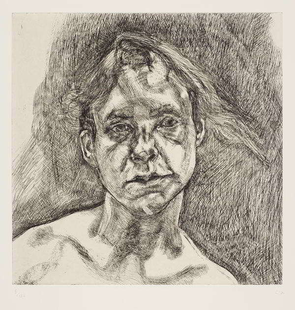 Lucian Freud-Head of a Naked Girl-2000