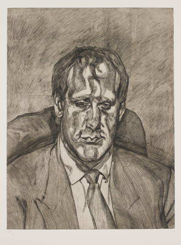 Lucian Freud-Head of an Irishman-1999