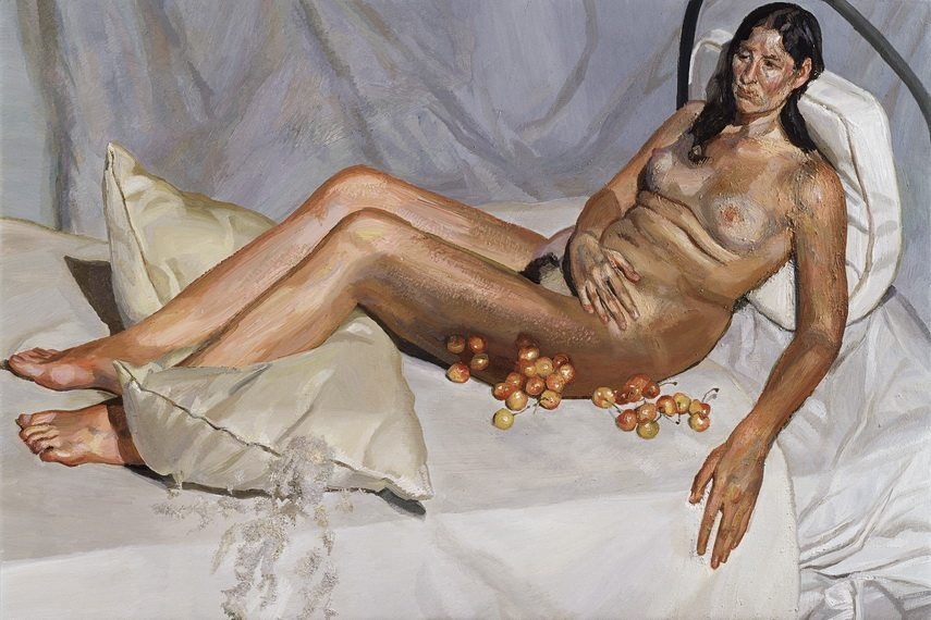 Lucian Freud - Irish Woman on a Bed