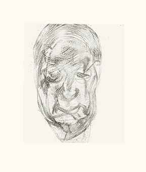Lucian Freud-Lawrence Gowing (second version)-1982