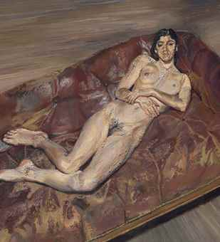 Lucian Freud-Naked Portrait on a Red Sofa-1989