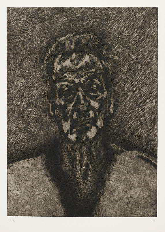 Lucian Freud-Self Portrait, Reflection-1996