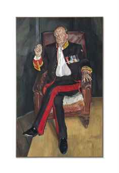 Lucian Freud-The Brigadier-2004